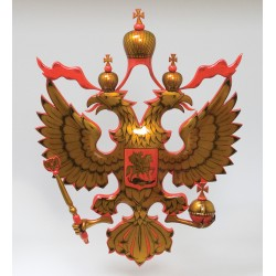 Carved National emblem  Khokhloma