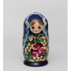 """Nastenka"" Set of 5 Miniature Nesting Dolls"