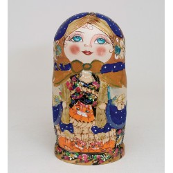 """Euphrosyne"" Set of 10 Miniature Nesting Dolls"