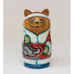 """Animals"" Set of 3 Miniature Nesting Dolls"