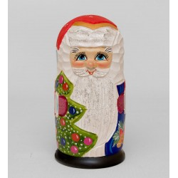 """Father Frost"" Set of 5 Miniature Nesting Dolls"