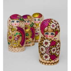"""Grushenka"" Set of 10 Miniature Nesting Dolls"