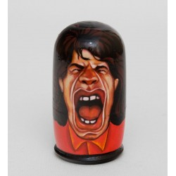 'The Rolling Stones'' Set of 4 Miniature Nesting Dolls