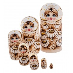 """Glafira"" Set of 7 Miniature Nesting Dolls"