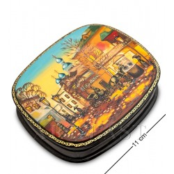 Russian Painted Box Fedoskino '' Old Moscow in winter ""