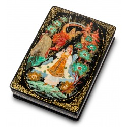 "Russian Painted Box Kholui ""Vasilisa the beautiful"""