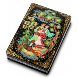 "Russian Painted Box Holuy ""Meeting in the Forest"" isp. Ivanov"