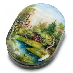 "Russian Painted Box Fedoskino ""Summer"""
