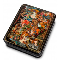 Palekh Russian Painted Box '' Flying karabl 'Osin