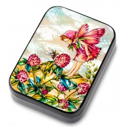 Russian Painted Box Fedoskino '' Clover ''