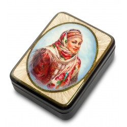 "Russian Painted Box Fedoskino ""Beauty"""