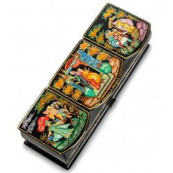 "Russian Painted Box Palekh ""Tale of sleeping Princess"" SM 18x6,5"