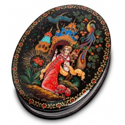 "Russian Painted Box Kholui ""Scarlet flower"""
