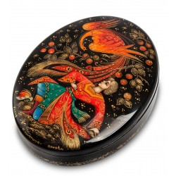 Russian Painted Box Kholui '' Firebird ''
