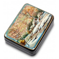 Russian Painted Box Fedoskino '' Village ''
