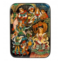 Russian Painted Box Fedoskino '' Cinderella ''