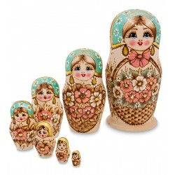 """Grunya"" Set of 7 Miniature Nesting Dolls"