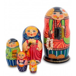 """Luke"" Set of 5 Miniature Nesting Dolls"