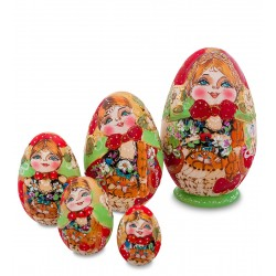"""Lukerya"" Set of 5 Miniature Nesting Dolls"