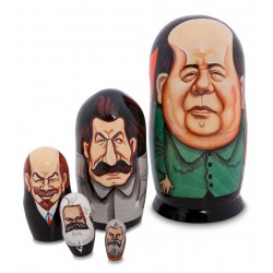 """Great Rulers"" Set of 5 Miniature Nesting Dolls E"
