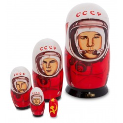 'Gagarin' 'Set of 5 Miniature Nesting Dolls