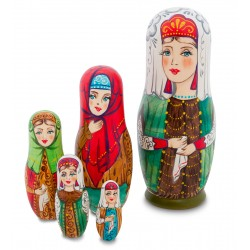 """Elijah"" Set of 5 Nesting Dolls"