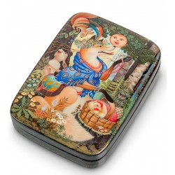 Fedoskino Russian Painted Box 'Gingerbread Man' 'Karataeva K.
