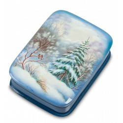 Russian Painted Box Fedoskino '' Winter '' App. Ageev A.