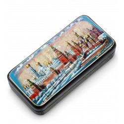 Russian Painted Box Fedoskino '' Moscow ''