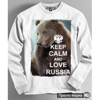 "Sweatshirt with a bear ""Keep kalm"""