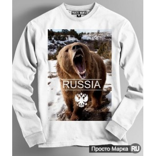 "Sweatshirt with a bear ""Russia"""
