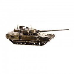 Scale model of the Russian T-14 Armata Tank (1:72), bronze