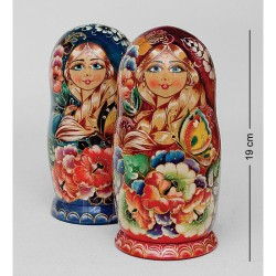 """Miroslava"" Set of 5 Miniature Nesting Dolls"