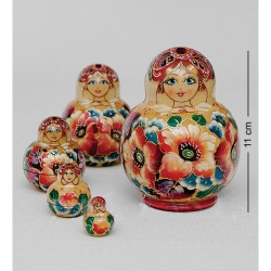 """Milena"" Set of 5 Miniature Nesting Dolls"