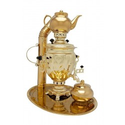 Charcoal-burning samovar 2,5 liters «Tula» in a set «Present»
