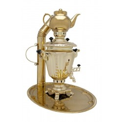 Charcoal-burning samovar 2,5 liters «Practical» in a set «Present»
