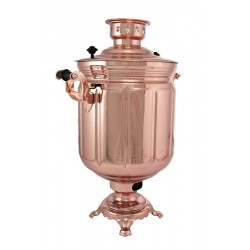 Electric samovar 10 liters «Jar» copperplated