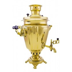 Charcoal-burning samovar 7 liters «Cut-glass wine-glass»