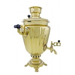 Charcoal-burning samovar 5 liters «Cut glass wine-glass»