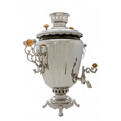 Charcoal-burning samovar 5 liters «Wineglass» (nickel)