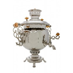Charcoal-burning samovar 4,5 liters «Ball» (nickel)