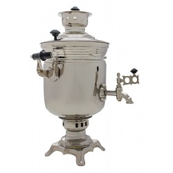 Charcoal-burning samovar 2,5 liters «Jar» (nickel)