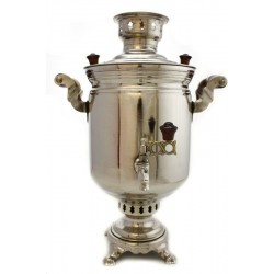Charcoal-burning samovar 5 liters «Original» second quality, nickel