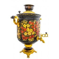 Electric samovar 10 liters «Jar» with painting «Khokhloma»