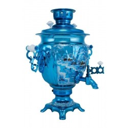 Electric samovar 3 liters «Acorn» with painting «Winter night»