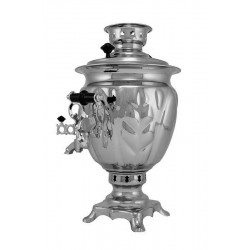 Charcoal-burning samovar 2,5 liters «Tula» (nickel)