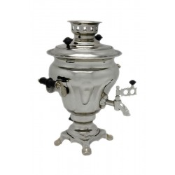 Electric samovar 2 liters «Vase-Pear» nickel-plated