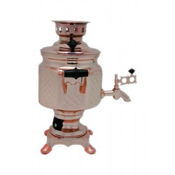 Electric samovar 1,5 liters «Screw nut» copperplated