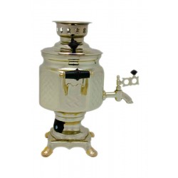 Electric samovar 1,5 liters «Screw nut» with shine coating