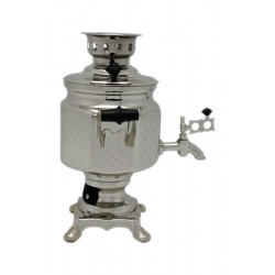 Electric samovar 1,5 liters «Screw nut» nickel-plated